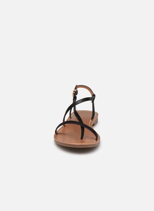 Sandales et nu-pieds ONLY ONLMELLY-7 PU  STRING SANDAL Noir vue portées chaussures