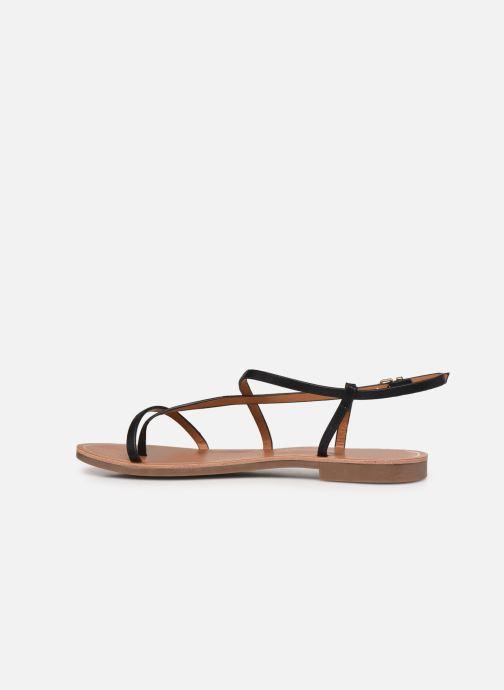 Sandales et nu-pieds ONLY ONLMELLY-7 PU  STRING SANDAL Noir vue face