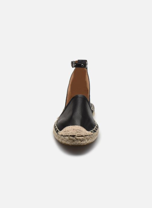 Scarpe di corda ONLY ONLEVA-10 PU ANKLE  WRAP ESPADRILLOS Nero modello indossato