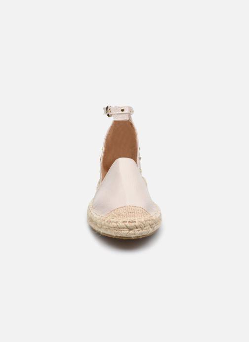 Scarpe di corda ONLY ONLEVA-10 PU ANKLE  WRAP ESPADRILLOS Bianco modello indossato