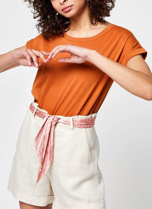 Kleding Vila Vidreamers Pure T-shirt Bruin detail