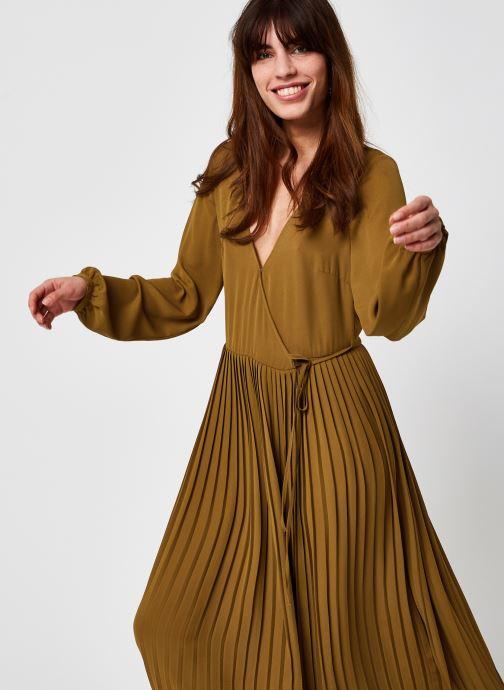Vêtements Vila Vimeju Wrap Midi Plisse Marron vue détail/paire