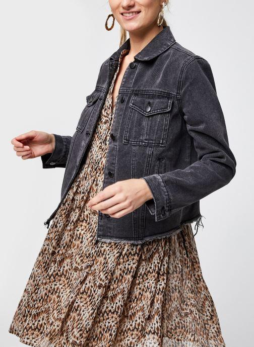 Vêtements Vila Vicaniana Denim Jacket Gris vue détail/paire