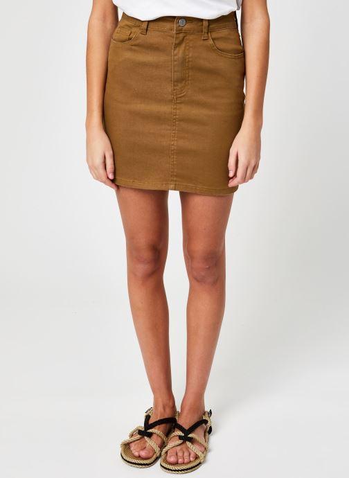 Ropa Vila Vicassie Short Denim Skirt Marrón vista de detalle / par
