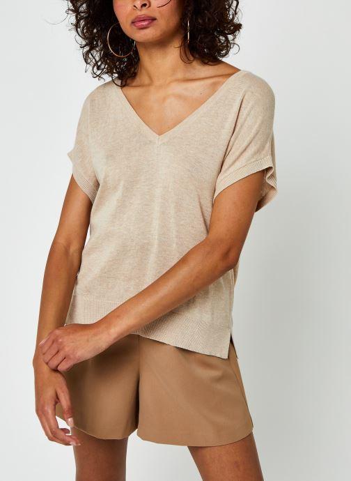 Vêtements Vila Vilesly Top Beige vue droite