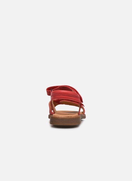 Sandalen Froddo G3150181 rot ansicht von rechts