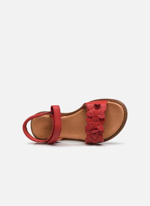 Sandalen Froddo G3150181 rot ansicht von links