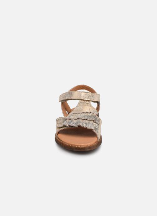 Sandalen Froddo G3150182 gold/bronze schuhe getragen