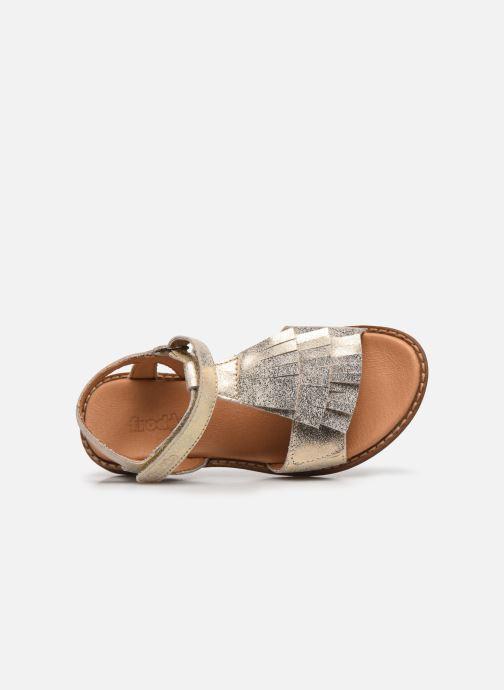 Sandalen Froddo G3150182 gold/bronze ansicht von links
