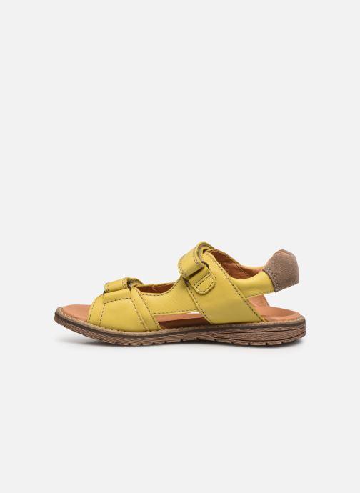 Sandalen Froddo G3150194 gelb ansicht von vorne
