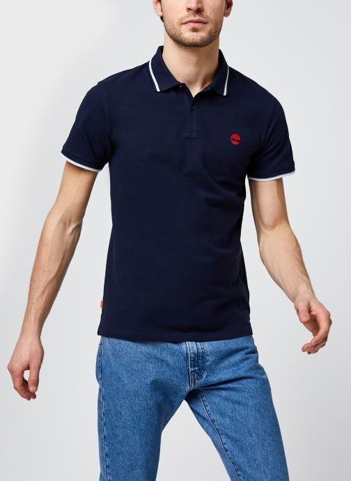 Kleding Accessoires SS Millers River Tipped Pique Polo Slim