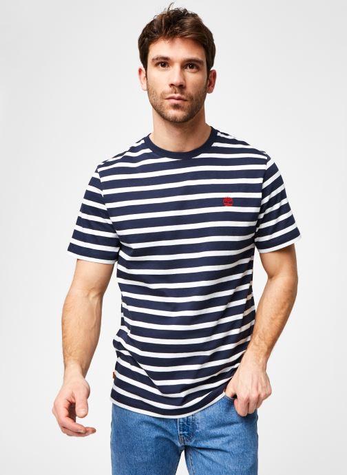 Abbigliamento Timberland SS Zealand River YD Stripe Tee Azzurro vedi dettaglio/paio