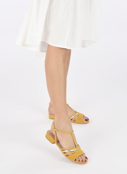 Sandali e scarpe aperte Georgia Rose Aliénor Giallo immagine dal basso