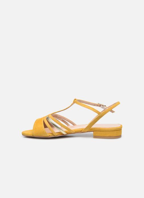 Sandali e scarpe aperte Georgia Rose Aliénor Giallo immagine frontale