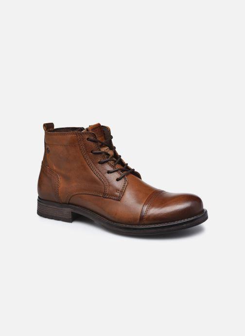 Stiefeletten & Boots Jack & Jones JFWRUSSEL MID LEATHER braun detaillierte ansicht/modell