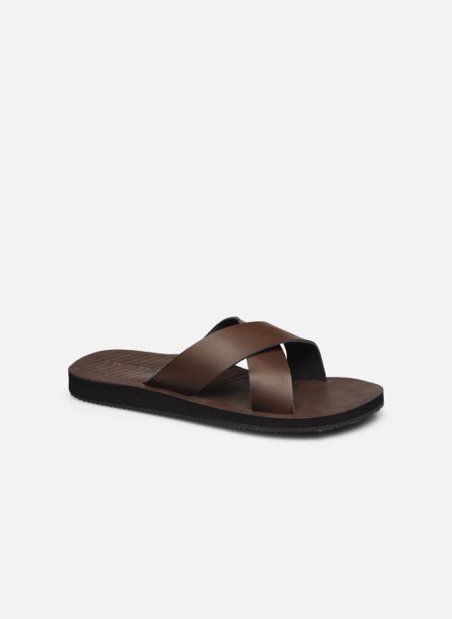 Sandales et nu-pieds Jack & Jones JFW COLE Marron vue détail/paire