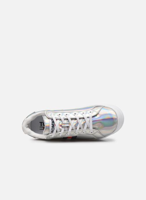 Sneaker Tommy Hilfiger FULLY IRIDESCENT IRONIC SNEAKER silber ansicht von links