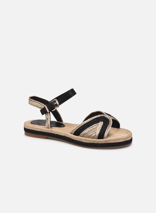 Sandales et nu-pieds Tommy Hilfiger TH ARTISANAL FLAT SANDAL Noir vue détail/paire