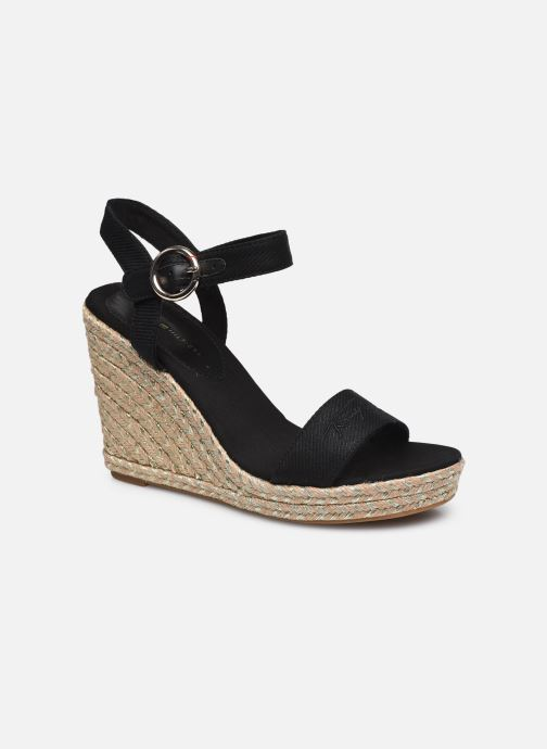 Sandales et nu-pieds Tommy Hilfiger TH SIGNATURE HIGH WEDGE SANDAL Noir vue détail/paire
