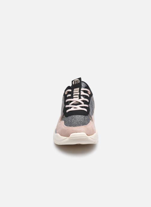 Baskets MTNG 48154 Beige vue portées chaussures