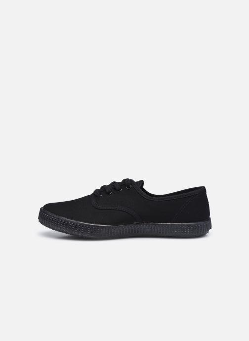 Sneakers Victoria Inglesa Lona Piso W Nero immagine frontale