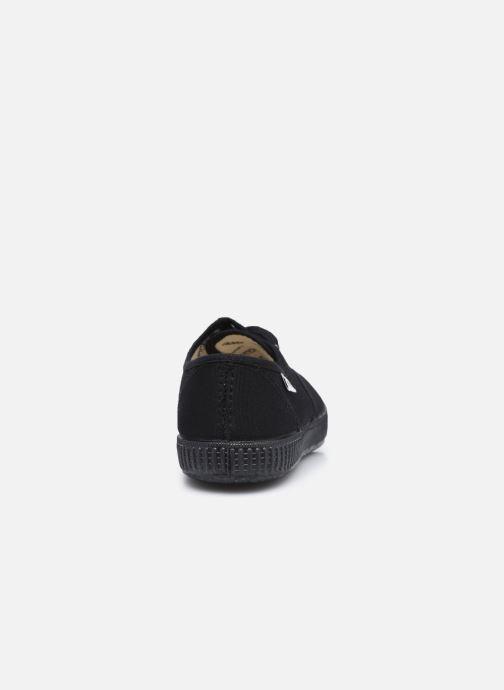 Sneakers Victoria Inglesa Lona Piso W Nero immagine destra