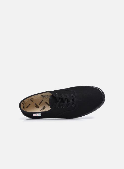 Sneakers Victoria Inglesa Lona Piso W Nero immagine sinistra