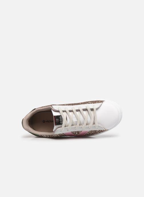 Sneaker Victoria Tenis Glitter Combinado beige ansicht von links