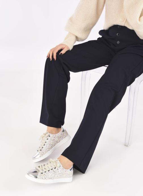 Sneaker Victoria Tenis Glitter Combinado silber ansicht von unten / tasche getragen