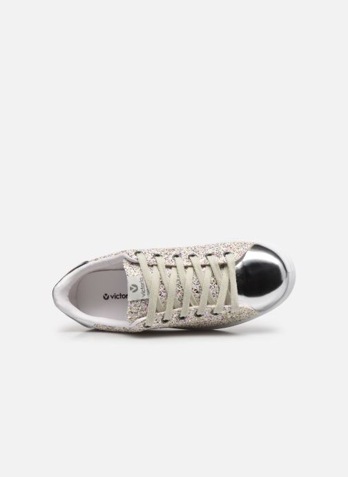 Sneaker Victoria Tenis Glitter Combinado silber ansicht von links