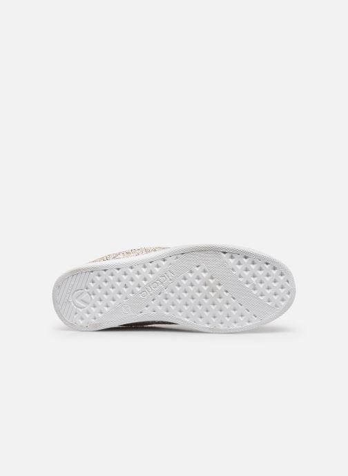 Sneaker Victoria Tenis Glitter Combinado silber ansicht von oben