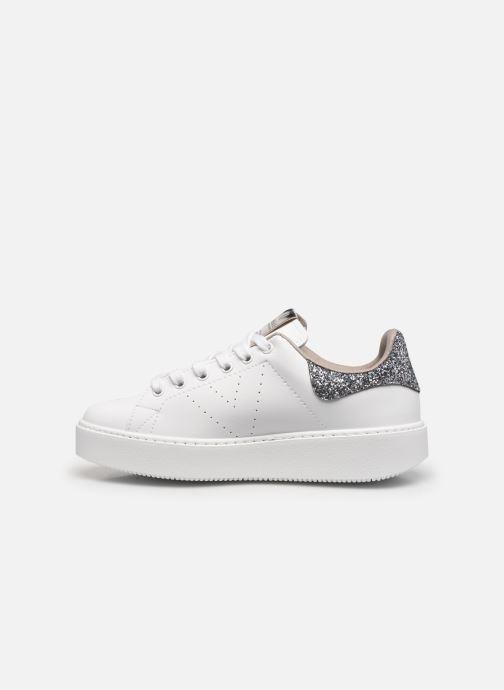Sneaker Victoria Utopía Vegana Glitter W grau ansicht von vorne