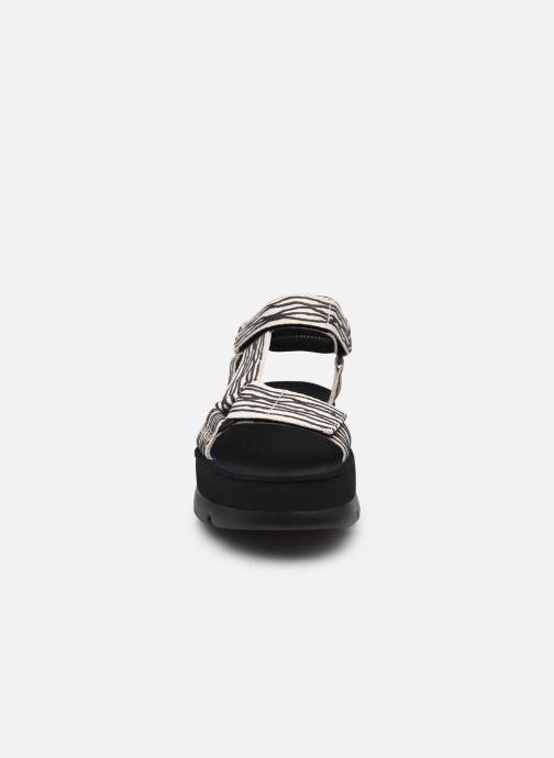 Sandales et nu-pieds Camper Oruga Up W Beige vue portées chaussures