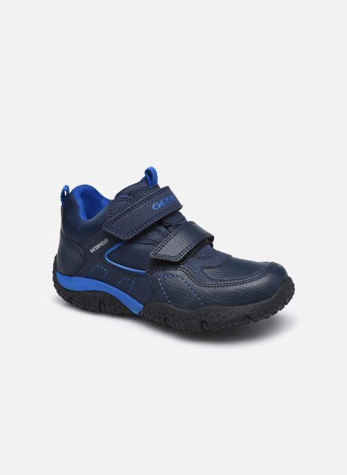 Baskets Geox J Baltic Boy B Wpf J042YA Bleu vue détail/paire
