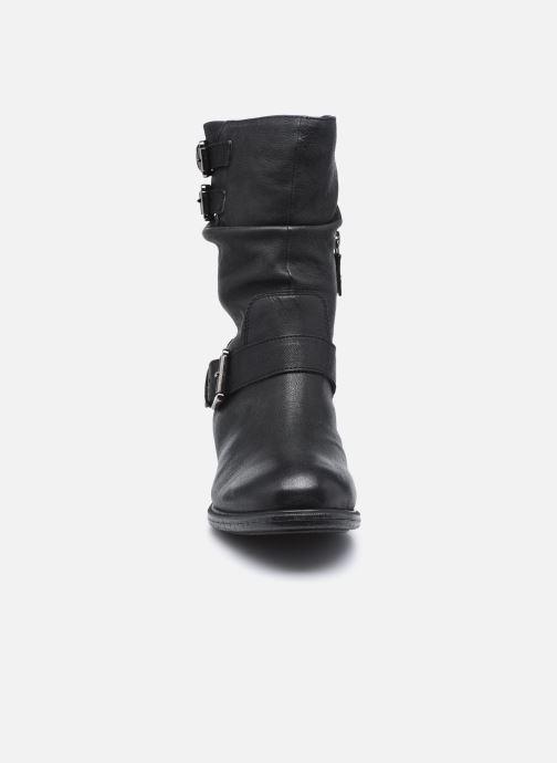 Bottes Geox D Catria D04LQG Noir vue portées chaussures
