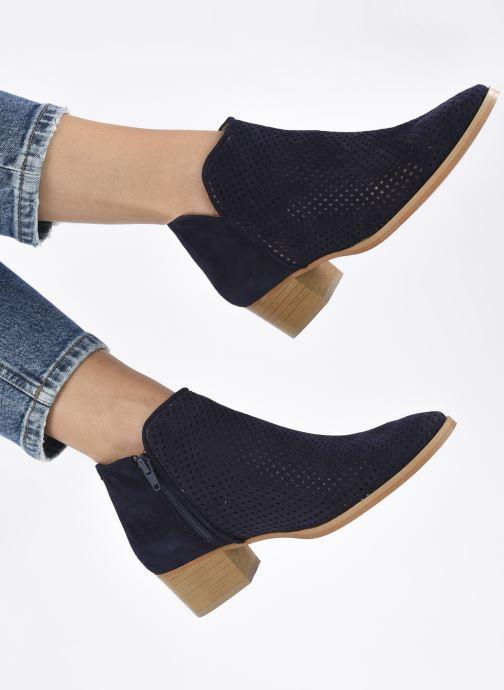 Bottines et boots Georgia Rose Alicia Bleu vue bas / vue portée sac