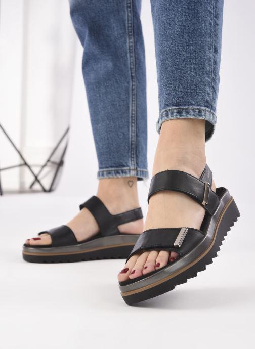 Sandales et nu-pieds Mephisto Dominica Noir vue bas / vue portée sac