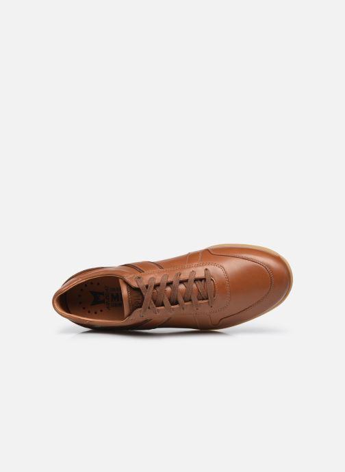 Sneaker Mephisto Lorenzio braun ansicht von links