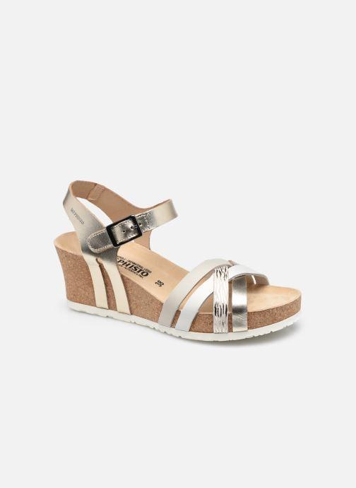 Sandales et nu-pieds Mephisto Lanny R Or et bronze vue détail/paire
