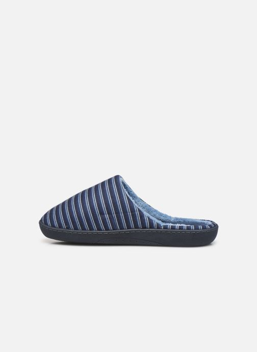 Pantofole Isotoner Mule Suedine Azzurro immagine frontale