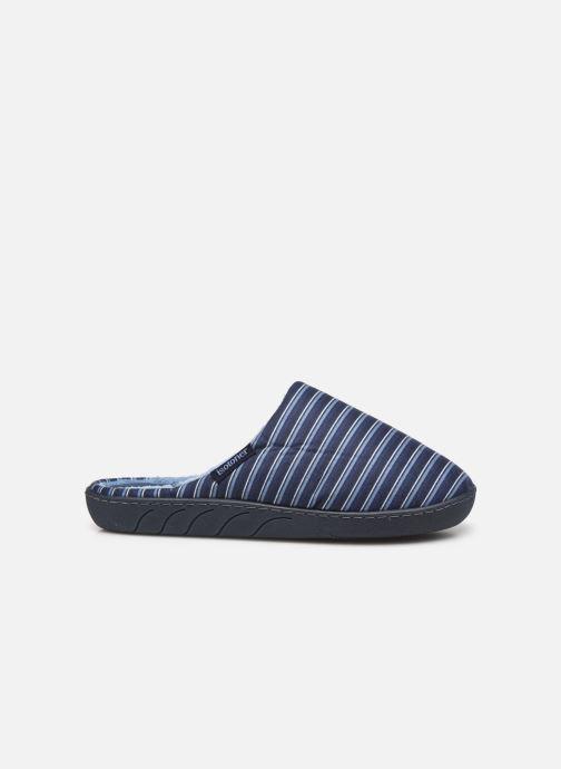 Pantofole Isotoner Mule Suedine Azzurro immagine posteriore