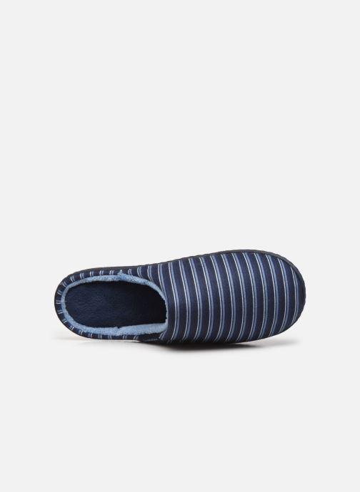 Pantofole Isotoner Mule Suedine Azzurro immagine sinistra
