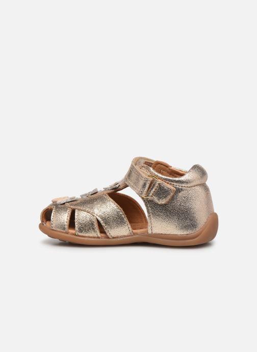 Sandalias Bisgaard Aya Oro y bronce vista de frente