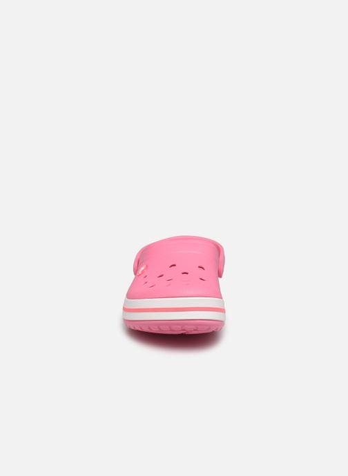 Zoccoli Crocs Crocband N Rosa modello indossato