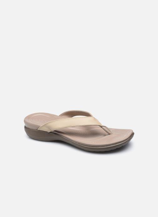 Slippers Crocs Capri V Flip W Bruin detail