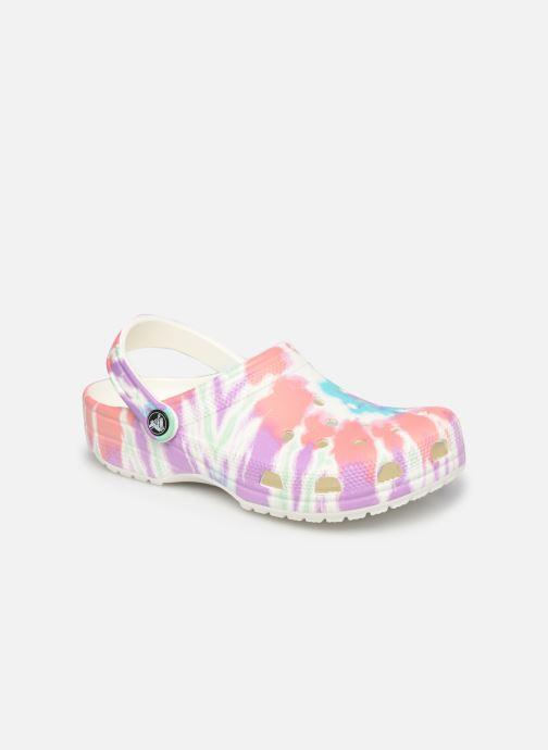 Clogs & Pantoletten Crocs Classic Tie Dye Graphic Clog W rosa detaillierte ansicht/modell