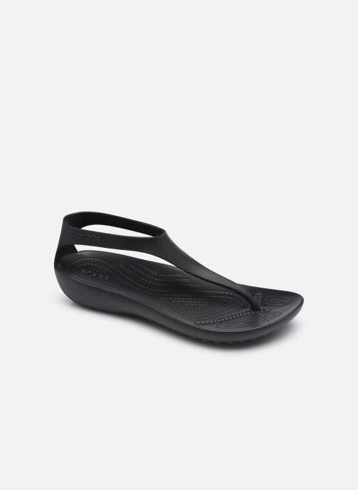 Sandales et nu-pieds Crocs Crocs Serena Flip W Noir vue détail/paire
