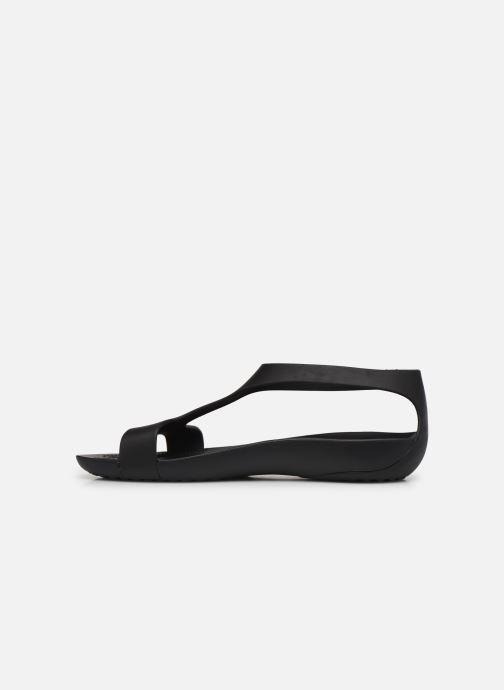 Sandalen Crocs Crocs Serena Sandal W schwarz ansicht von vorne