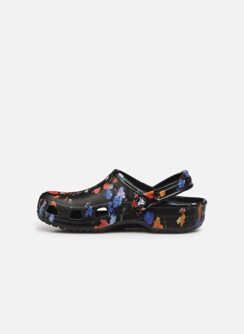 Clogs & Pantoletten Crocs Classic Printed Floral Clog schwarz ansicht von vorne