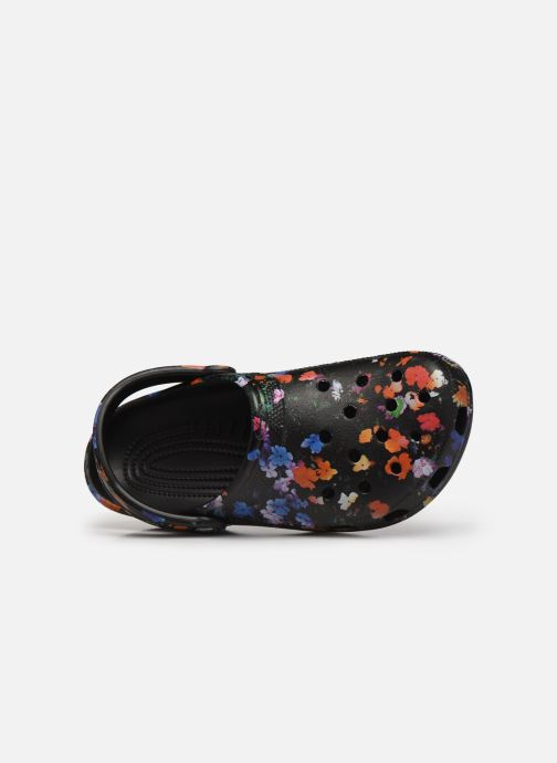 Clogs & Pantoletten Crocs Classic Printed Floral Clog schwarz ansicht von links